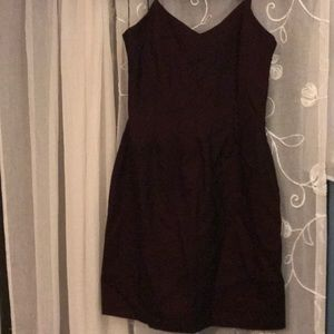 Eggplant colored dress that sort of changes color.